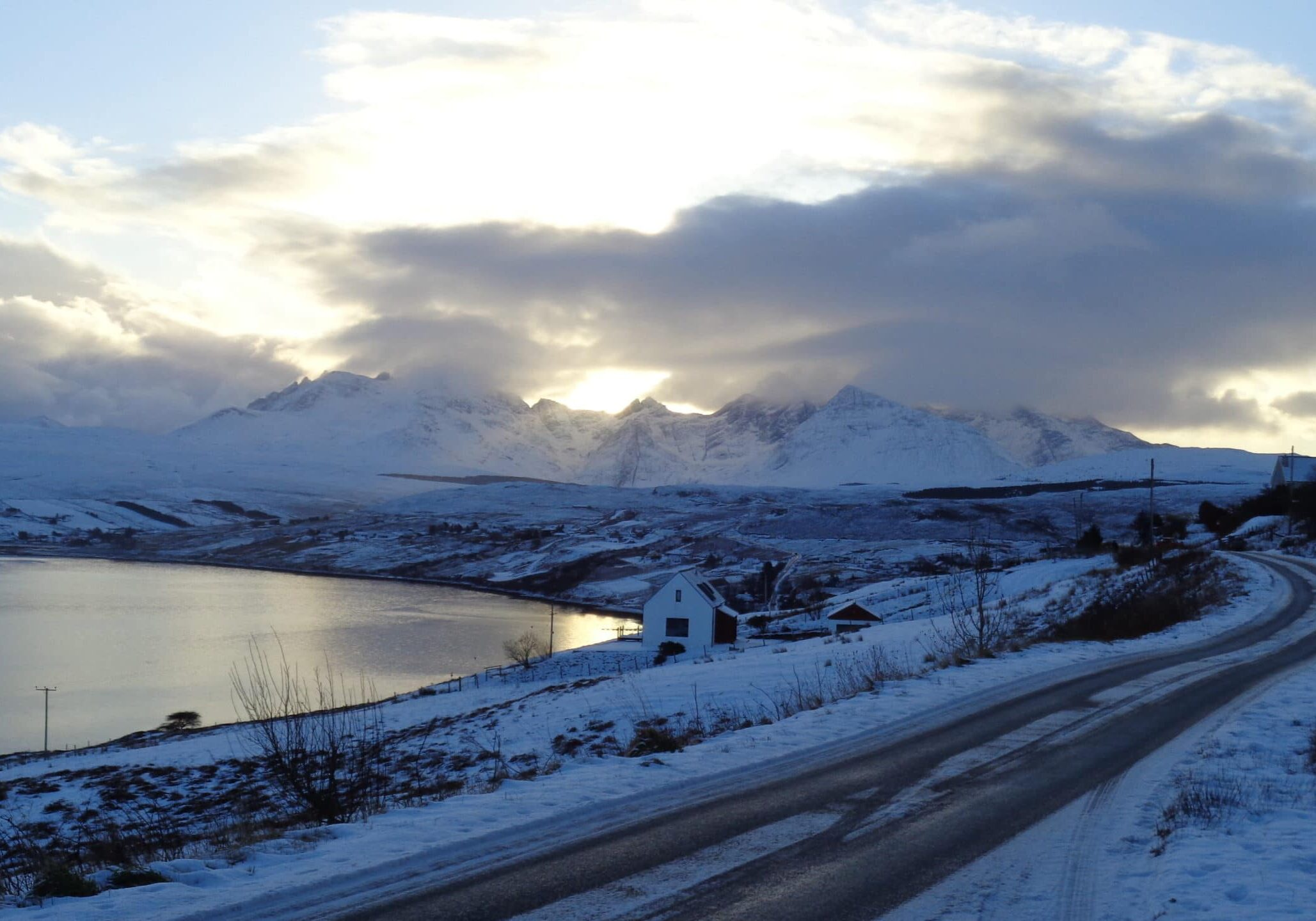 Winter light on The Cuillin